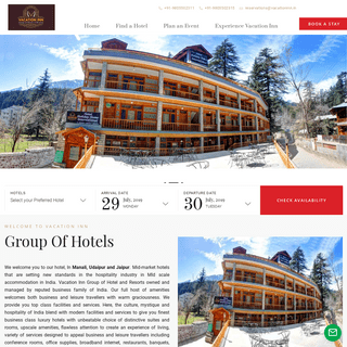 Vacation Inn - The Group of Hotels and Resorts - Mid Market and Mid Scale Accommodation in India