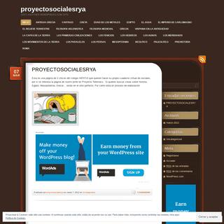 proyectosocialesrya - Just another WordPress.com site