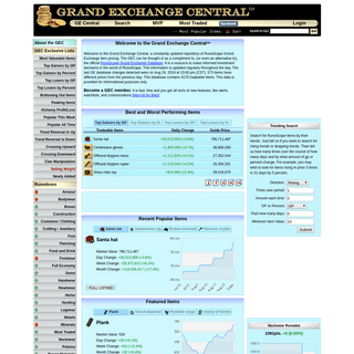 Grand Exchange Central - Home Page