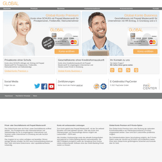 Global-Konto Prepaid Kreditkarte und schufafreies Konto