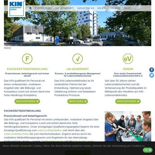 ArchiveBay.com - kin.de - Lebensmittelinstitut KIN e.V.