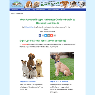 Your Purebred Puppy, An Honest Guide to Purebred Dogs and Dog Breeds