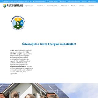 Tiszta Energiák Kft. a napelem kis- és nagykereskedő