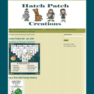 ArchiveBay.com - hatchpatch.com - Family Home Evening made easy! - Family Home Evening made easy!-Hatch Patch Creations