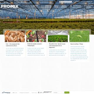 Distribution et fabrication de substrats de culture et de tourbe de sphaigne - PRO-MIX par Premier Tech Horticulture