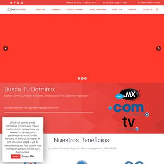 MEXISERVER - Web Hosting, Dominios, Radio Streaming, Video Streaming (TV), Cloud VPS