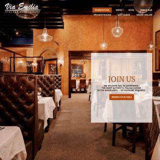 ArchiveBay.com - viaemiliarestaurant.com - Via Emilia Italian Restaurant – The Woodlands, Texas – Authentic Northern Italian Cuisine