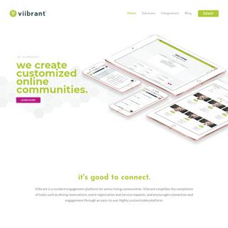 ArchiveBay.com - seniorportal.com - Customized Resident Engagement - Viibrant - An Assisted Living Engagement Software Provider