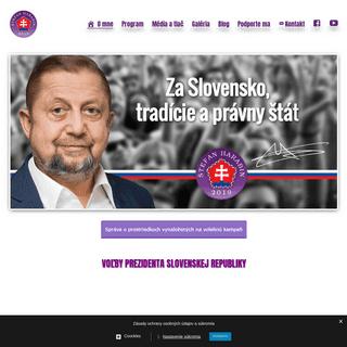 Národný kandidát na prezidenta SR Štefan Harabin