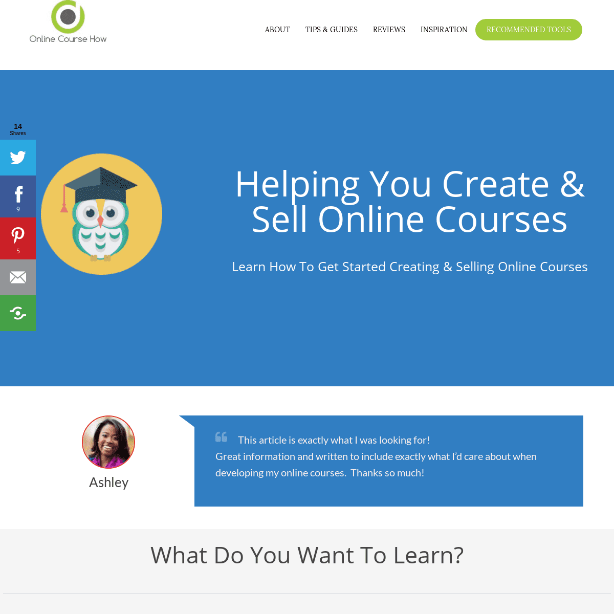 Online Course How Homepage - Online Course How