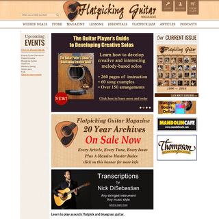 Flatpick.com - Learn to flatpick the guitar and play bluegrass guitar. Improve your flatpicking skills for bluegrass, country, f