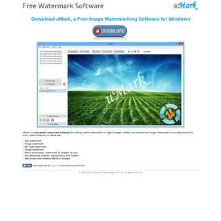 Free Watermark Software - uMark
