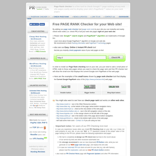 Google PageRank Checker - Check Google page rank of any web pages