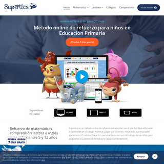 Supertics- Refuerzo para niños de primaria