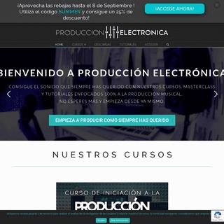 Cursos de Producción Musical Online - Producción Electrónica