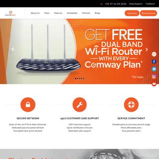 Best Internet Service Provider - Best Broadband Plans - Comway