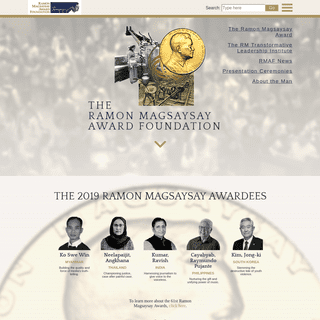 The Ramon Magsaysay Award Foundation • Honoring greatness of spirit and transformative leadership in Asia