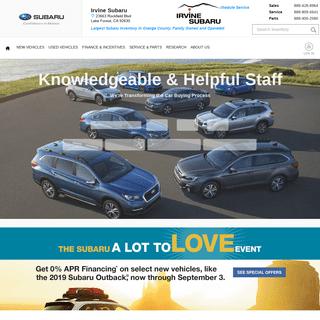 ArchiveBay.com - irvinesubaru.com - Orange County's Irvine Subaru Dealership - New and Used Cars.