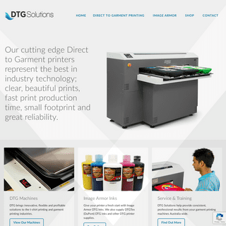 DTG Solutions - Cutting Edge Direct to Garment Printers for sale