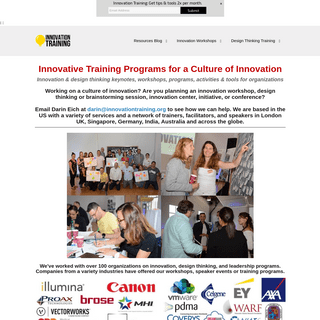 Innovation Training - Innovation Workshops - Innovation Speaker — Innovation Training - Design Thinking Workshops