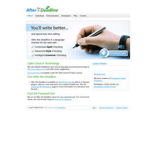 ArchiveBay.com - afterthedeadline.com - After the Deadline - Spell, Style, and Grammar Checker for WordPress, Firefox, TinyMCE, jQuery, and CKEditor