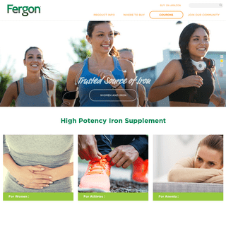Iron Supplements For Women, Athletes and Anemia - Fergon