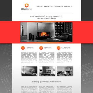 kandalló tervezés és építés - URBANflame