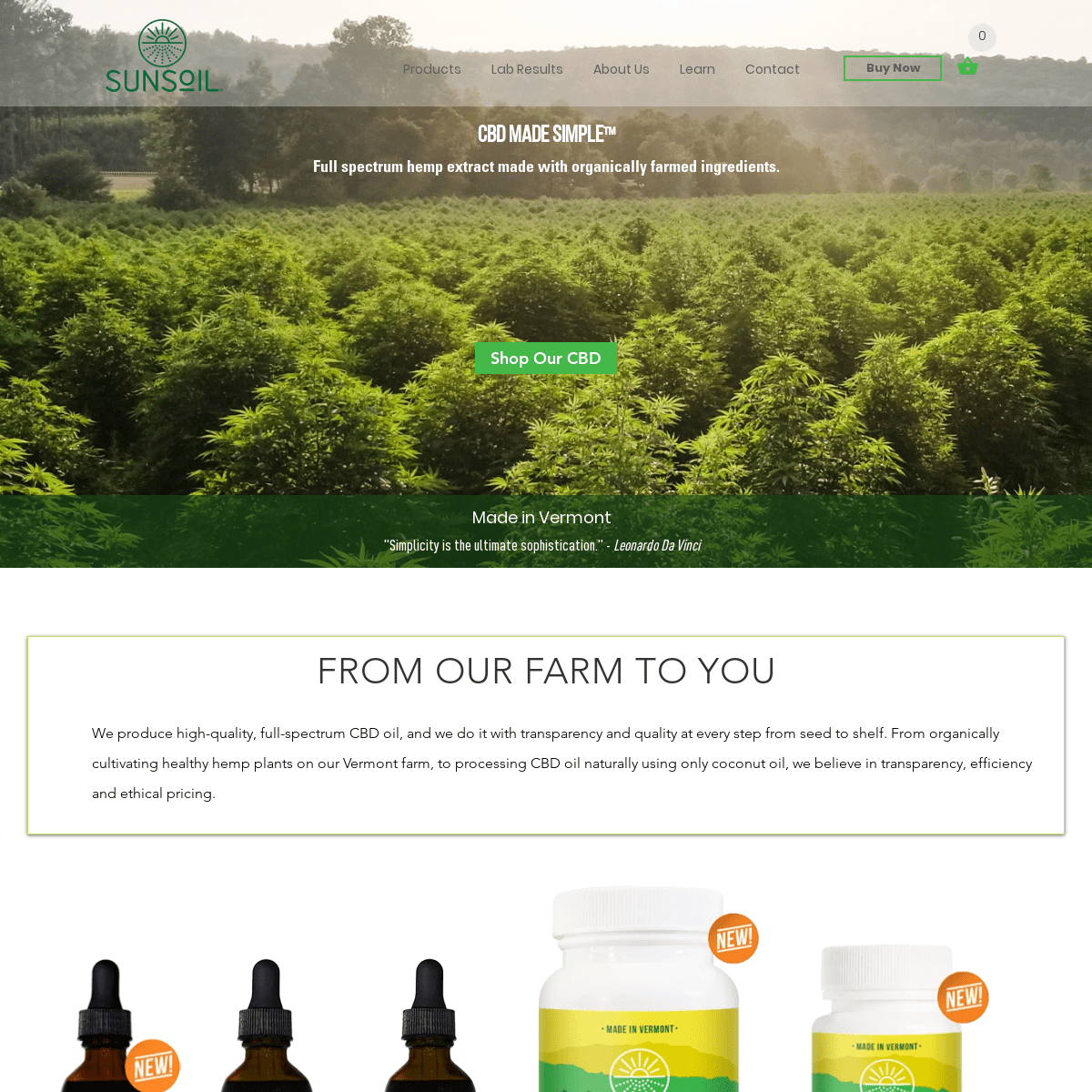 ArchiveBay.com - greenmountaincbd.myshopify.com - Sunsoil - USDA Certified-Organic Hemp CBD - Grown in Vermont