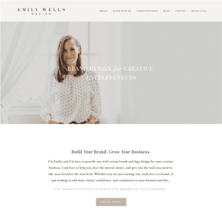Brand and Logo Design for Creative Entrepreneurs - Emily Wells Design