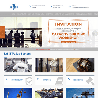 Safety and Security Sector Education and Training Authority - SASSETA