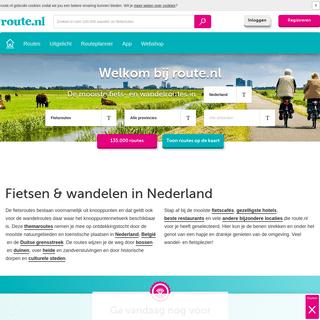 route.nl, meer dan 100.000 gratis fiets- en wandelroutes