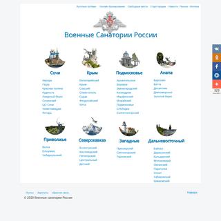 36 Военных Санатория России