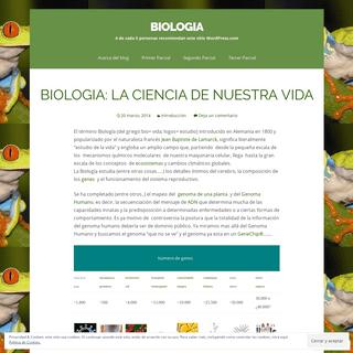 BIOLOGIA - 4 de cada 5 personas recomiendan este sitio WordPress.com
