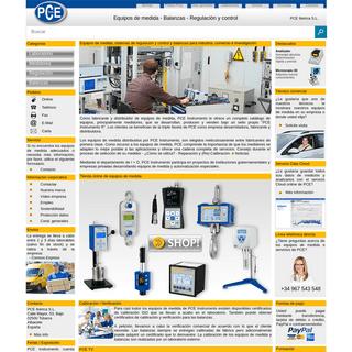 Fabricante y distribuidor de equipos de medición - PCE Instruments