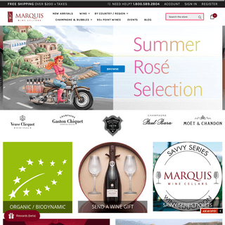 Marquis Wine Cellars - Buy Wine & Champagne Online - Free Delivery Over $200+