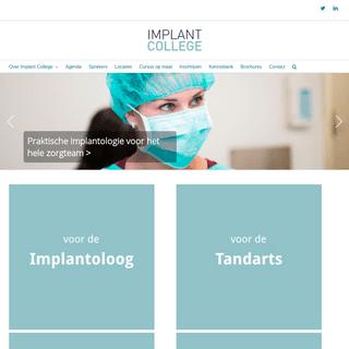 ArchiveBay.com - implantcollege.eu - Implant College – cursussen en lezingen over implantologie