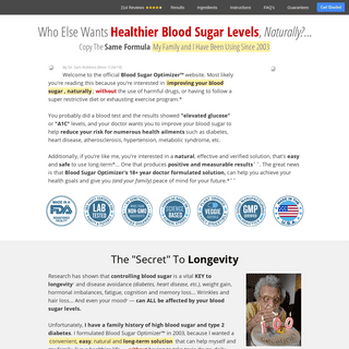 Blood Sugar Optimizer - Can you have healthy blood sugar levels, naturally-