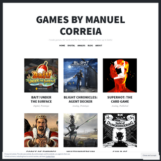 Games by Manuel Correia – I make games, for work and for fun! Here's what I've been up to lately-