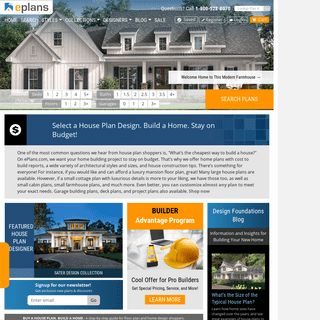 House Plans, Home Plans, Floor Plans and Home Building Designs from the eplans.com House Plans Store - Garage Plans and Blueprin