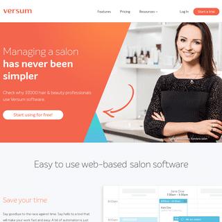 Versum - best salon software for your needs