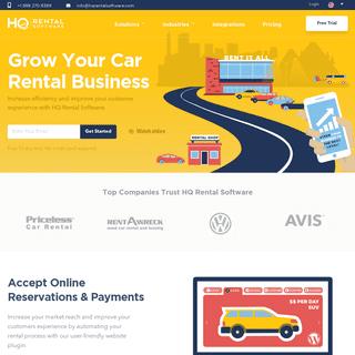 Car Rental Software - Vehicle Rental Management & Booking System