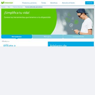 Servicios adicionales para Celulares - Movistar
