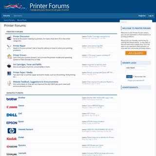 Printer Forums