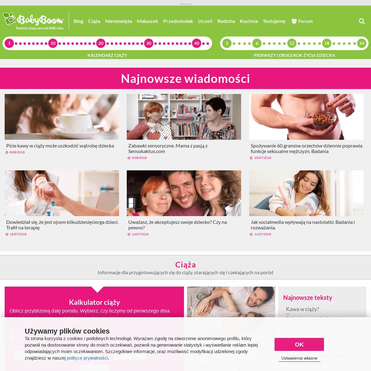 BabyBoom.pl - strona dla przyszłych i obecnych rodziców. Ciąża, poród i młodsze dzieci. - BabyBoom