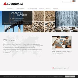 Quarzsand, Quarzkies und Filterkiesprodukte aus Ihrem Quarzwerk - Euroquarz GmbH