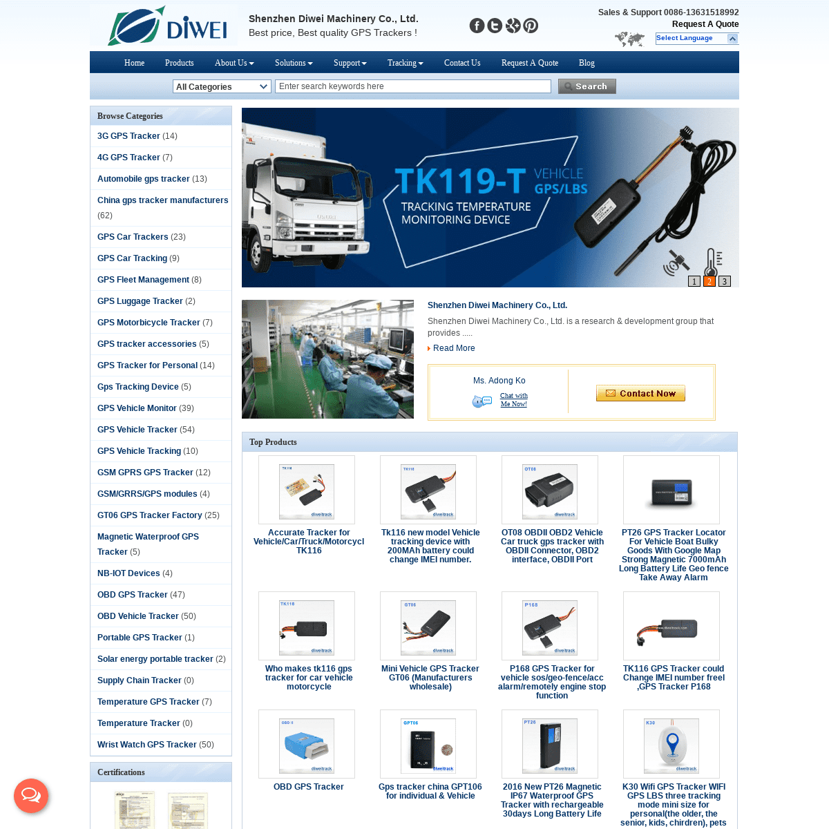 DiweiTrack- Reliable GPS Tracking Solutions, GPS Device Manufacturers