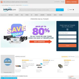 ArchiveBay.com - inkjets.com - Printer Ink Cartridges & Printer Toner - Save up to 80- - Inkjets.com