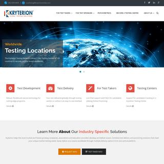 Kryterion Global Testing Solutions -