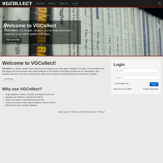 VGCollect - Video Game Database & Collection Management