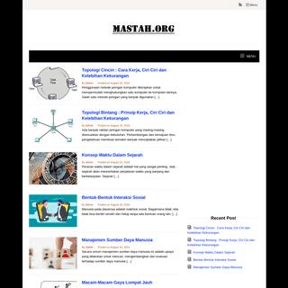 MASTAH.ORG - Mastah Tutorial Solusi Lengkap Download, Informasi Terbaru Teknologi dan Gadget
